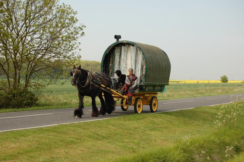 modern romani wagon